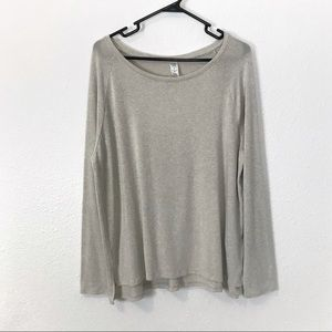 Old Navy L Luxe Long Sleeve Swing Top T-Shirt